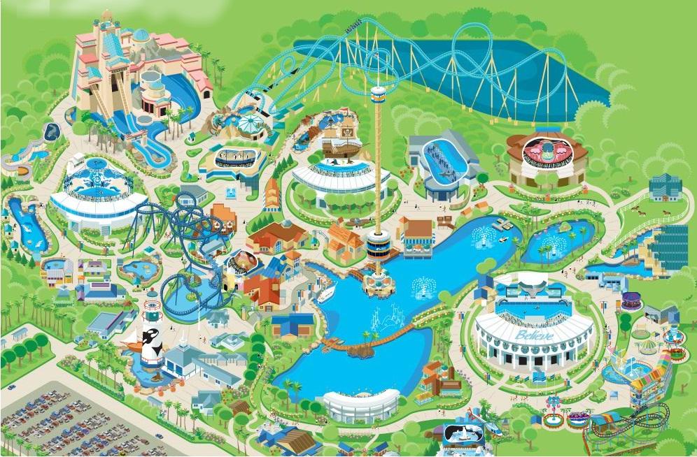 Mapa do SeaWorld Orlando