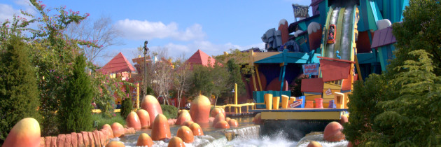 Brinquedos Radicais com Água no Universal Island Of Adventure