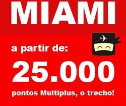 Passagem para Miami por 25mil Pontos Cada Trecho no Multiplus Fidelidade TAM