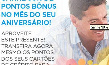 Ganhe 30% de Bônus no Multiplus Fidelidade TAM se você faz Aniversário em Outubro!