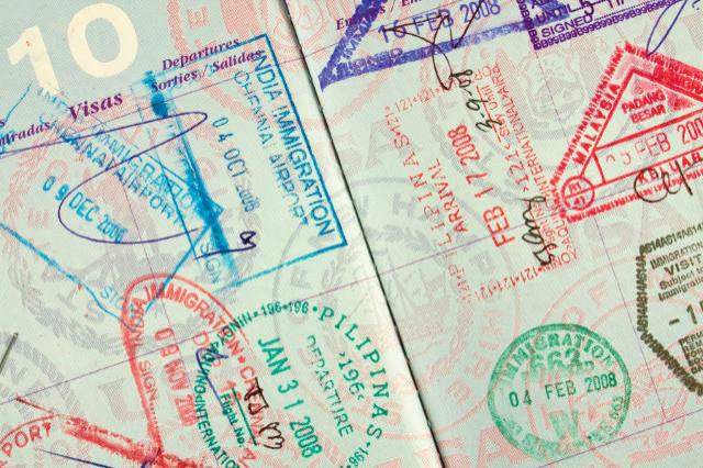 U.S. Passport Stamped