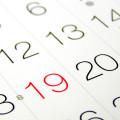 Calendario de feriados nos EUA