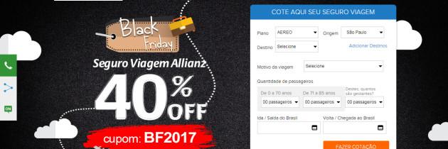Black Friday Antecipada no Seguro Viagem Allianz